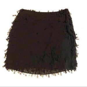 Ann Taylor Confetti Textured Mini Skirt Black 6P